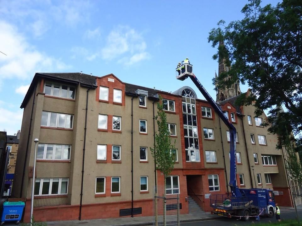 Roof inspection of Edinburgh Student Housing Co-operative in 2014