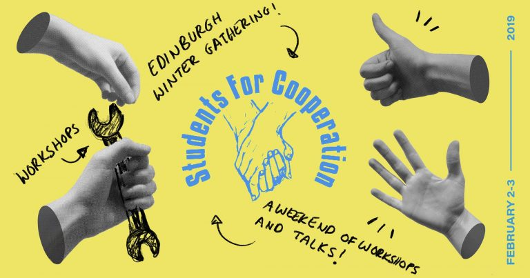 Students for Cooperation poster for the 2019 Edinburgh gathering