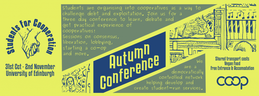 2014 Students for Cooperation Edinburgh conference banner