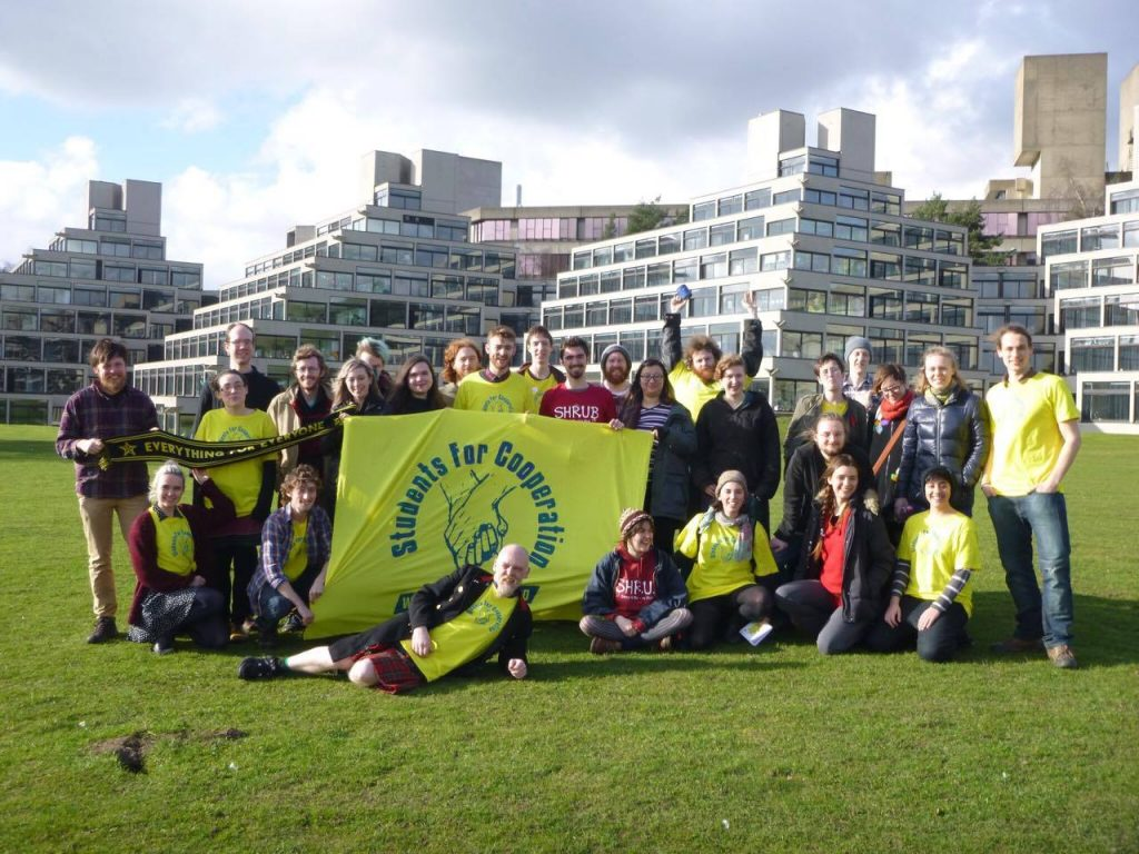 Group photo of attendees of the Students for Cooperation Norwich conference
