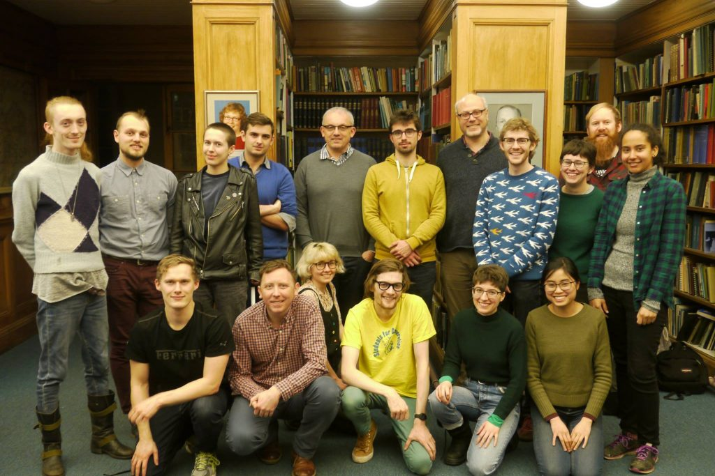 Student Co-op Homes group photo in Edinburgh in 2018.